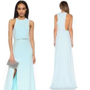 Halston Heritage Tiffany Blue Open Back Dress